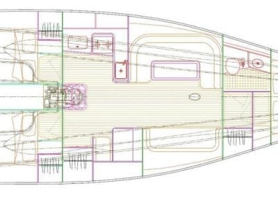 Fastsailing Sydney43 interior layout