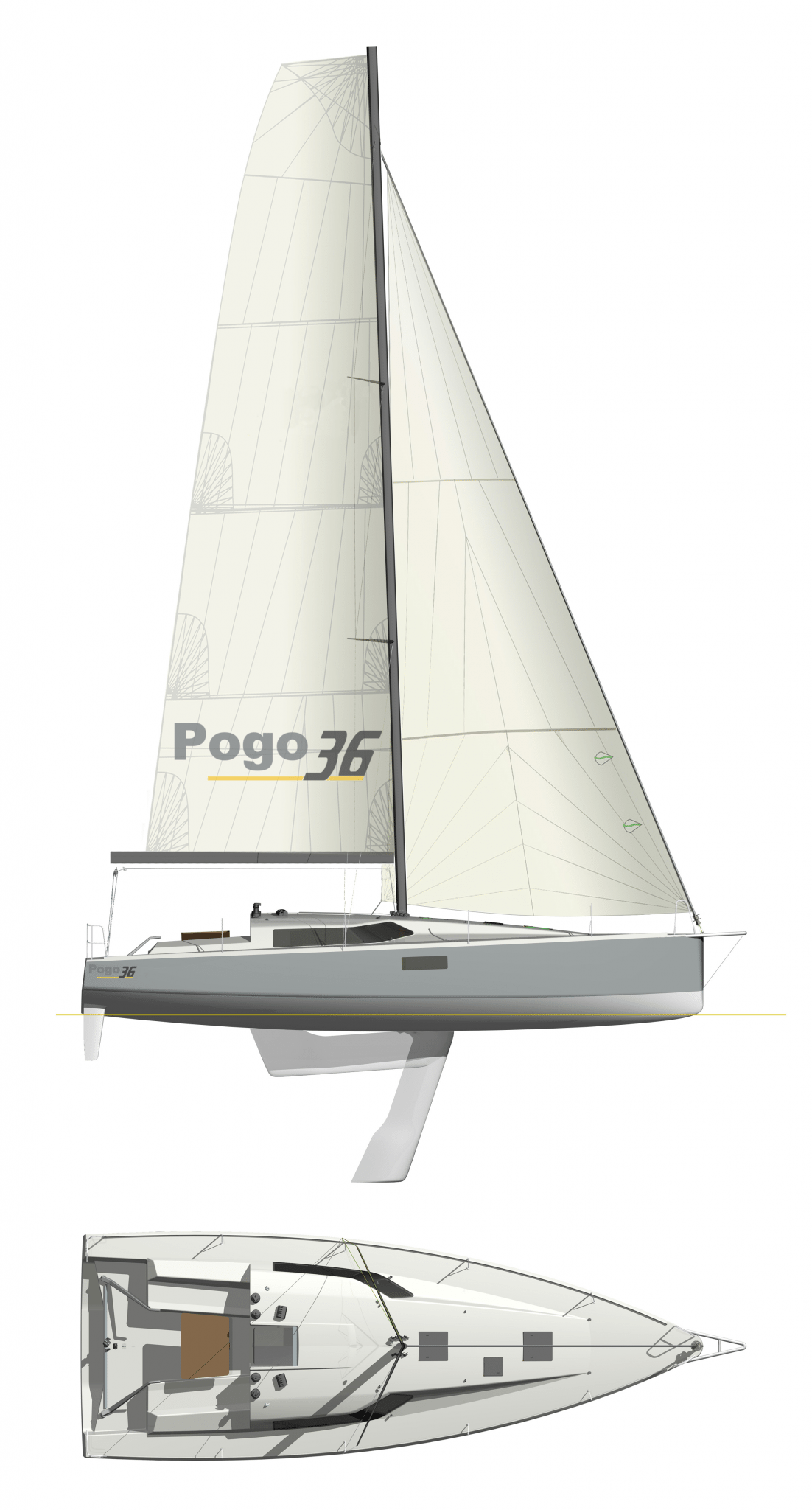 Pogo36-Fastsailing with lifting keel