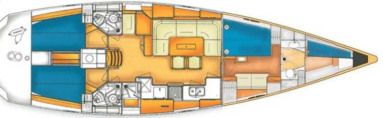 X-Yacht X-50 interior plan