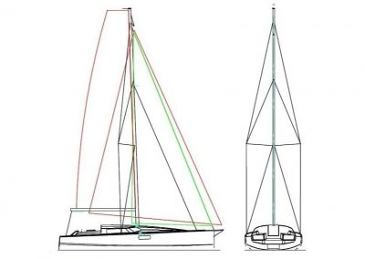 Pogo36 rigging with powerful sail plan