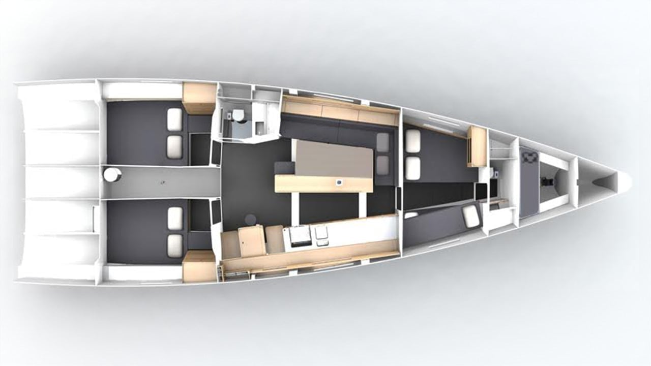 Pogo50 FastSailing Custom Interior