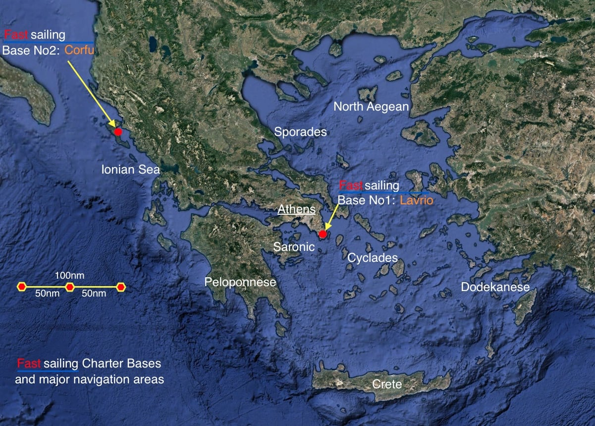 Fastsailing charter bases