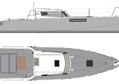 Loxo32 Plan and side view
