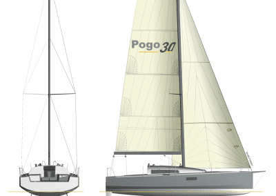 Pogo30 - lifting keel draft 1.05-2.5m