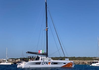LYNX Fastsailing's Outremer 4x on anchor