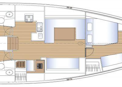 Solaris 55 Interior Layout