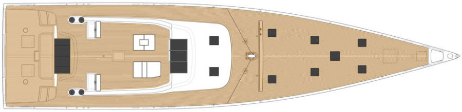 Solaris 111 SY Deck layout