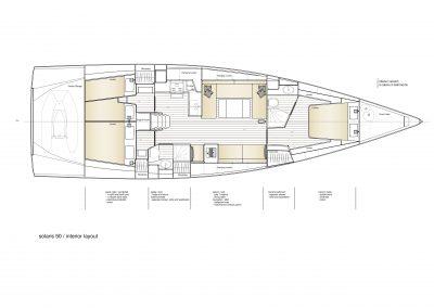 Solaris 50 - Interior Layout 1
