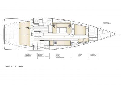Solaris 50 - Interior Layout 2