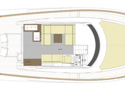 Solaris Power 48 Flybridge Deck Layout