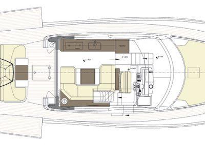 Solaris Power 57 Flybridge Deck Layout A