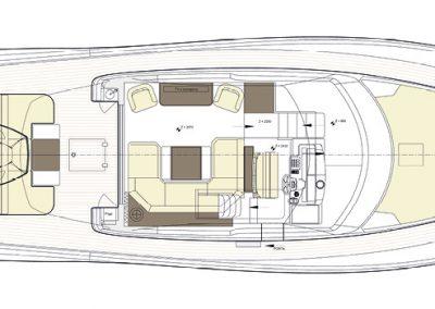 Solaris Power 57 Flybridge Deck Layout B