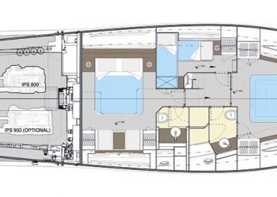 Solaris Power 57 Lobster Deck Interior Layout B