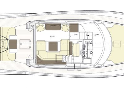 Solaris Power 57 Lobster Deck Layout A
