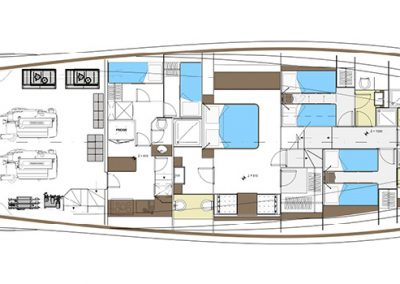 Solaris Power 80 Flybridge Cabin Layout Option B