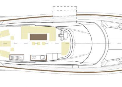 Solaris Power 80 Flybridge Layout Upper Deck