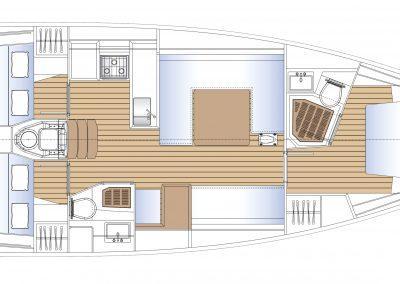 Solaris 40 interior plan